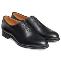 Isobella Ladies Wholecut Oxford in Black Calf Leather