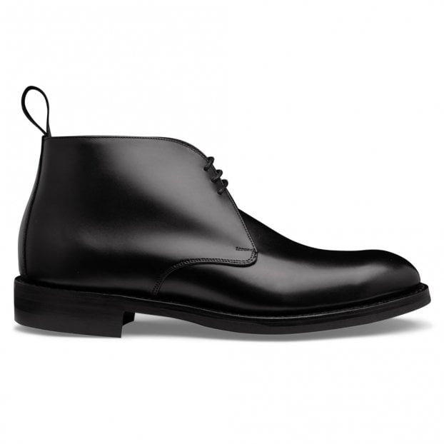 Cheaney Jackie III R Chukka Boot in Black Calf Leather