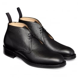 Jackie III R Chukka Boot in Black Grain Leather