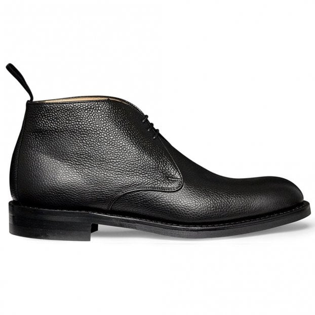 Cheaney Jackie III R Chukka Boot in Black Grain Leather