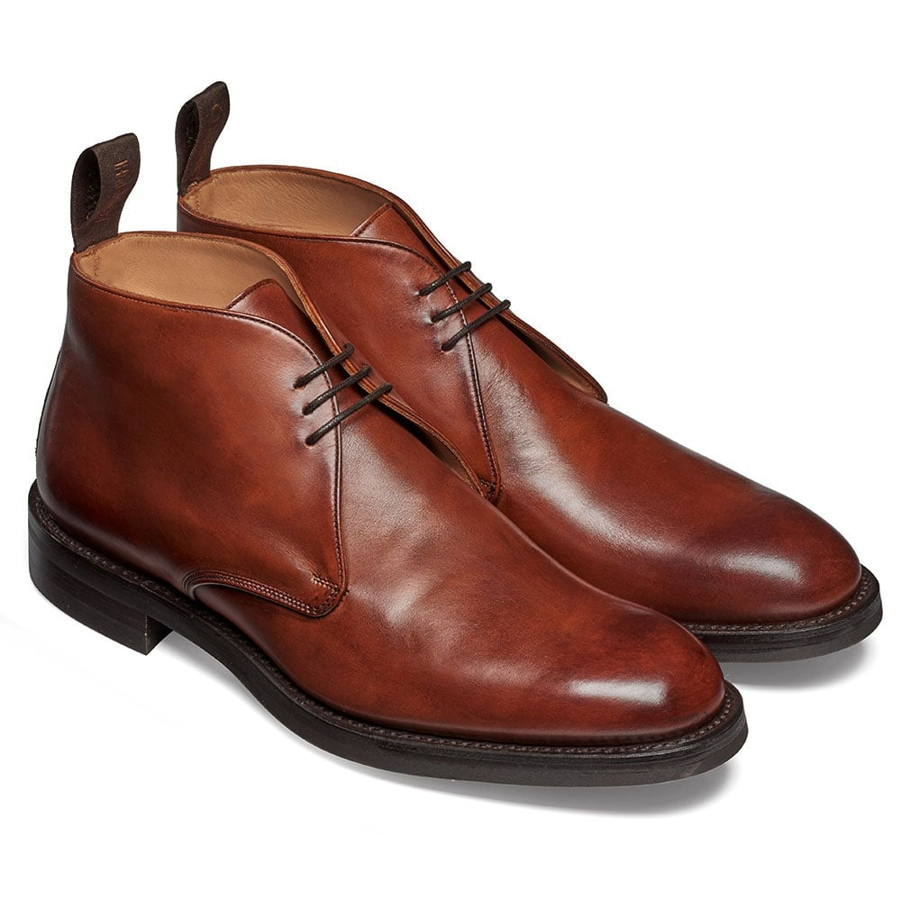 378388c12c7 Cheaney Jackie III R Chukka Boot in Burnished Dark Leaf Calf Leather
