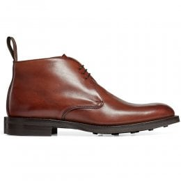 Jackie III R Chukka Boot in Burnished Dark Leaf Calf Leather