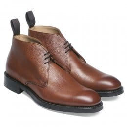 Jackie III R Chukka Boot in Mahogany Grain Leather