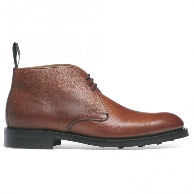 Cheaney Jackie III R Chukka Boot in Mahogany Grain Leather