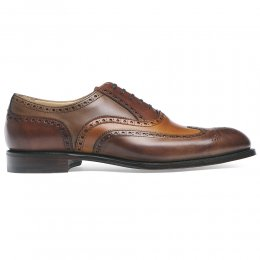 James II Wingcap Brogue in Conker, Chestnut & Dark Leaf Calf Leather