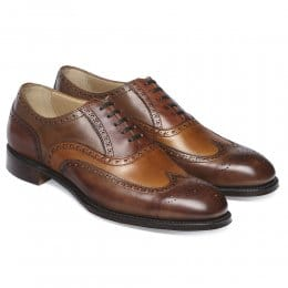 James II Wingcap Brogue in Espresso Chestnut & Dark Leaf Calf Leather