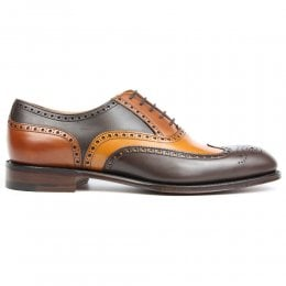 James II Wingcap Brogue in Mocha, Chestnut & Dark Leaf Calf Leather