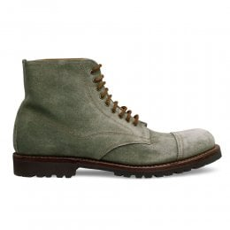 Jarrow Derby Boot in Cappero Green Suede