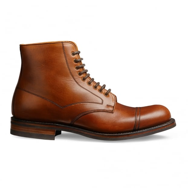 Cheaney Jarrow R Country Derby Boot in English Tan Chromexcel Leather