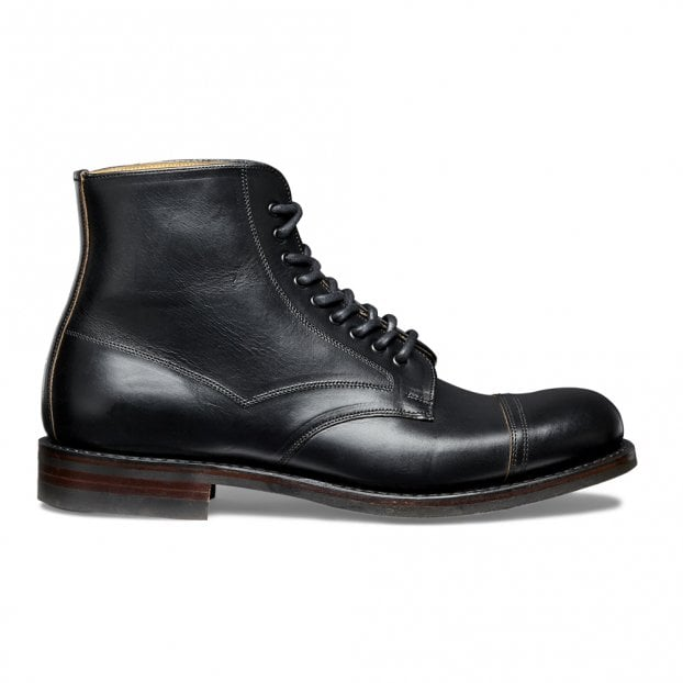Cheaney Jarrow R Derby Boot in Black Chromexcel Leather