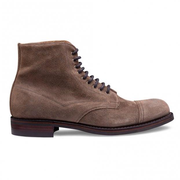 Cheaney Jarrow R Derby Boot in Tundra Waxy Suede