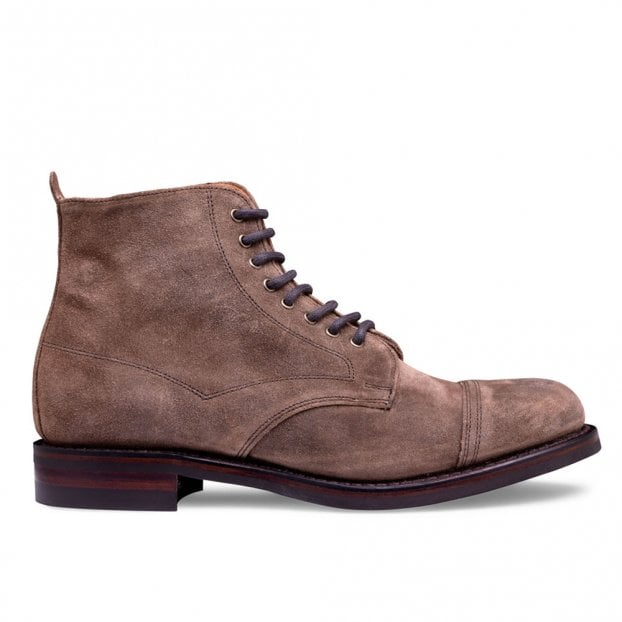 Cheaney Jess Capped Derby Boot in Tundra Waxy Suede