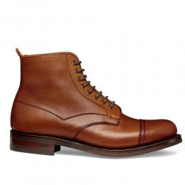 Jess Ladies Capped Derby Boot in English Tan Chromexcel Leather