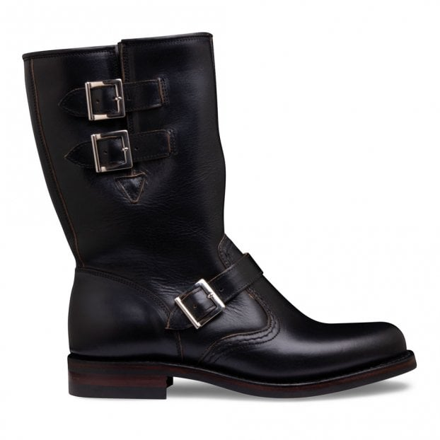Cheaney Josie Rigger Boot in Black Chromexcel Leather