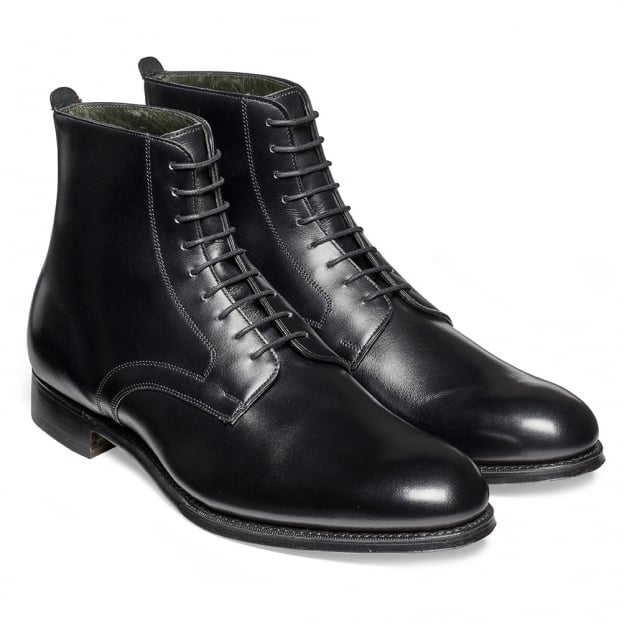 Cheaney King Derby Boot in Black Calf Leather