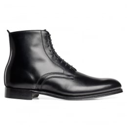 King Derby Boot in Black Calf Leather