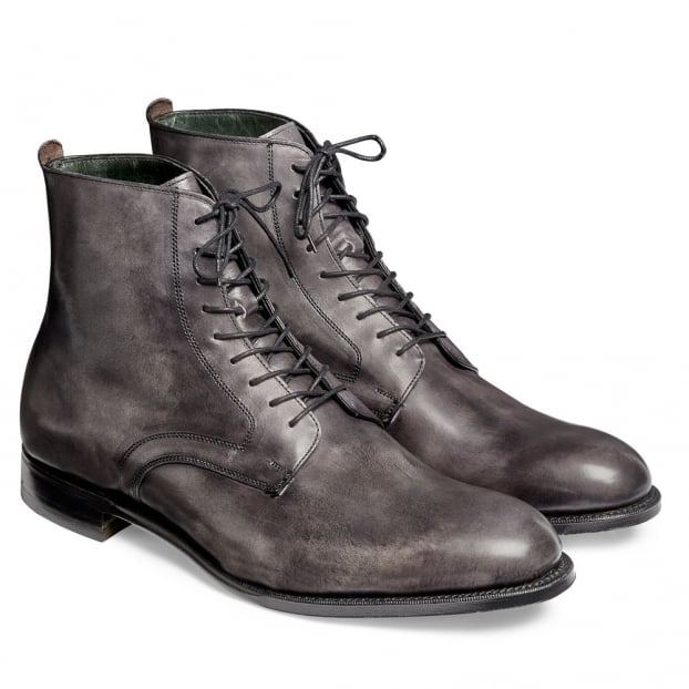 Cheaney King Derby Boot in Charcoal Grey Calf Leather