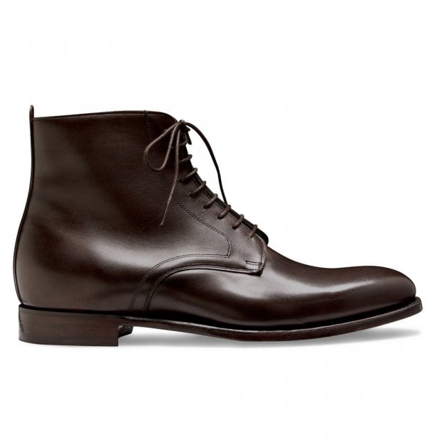 Cheaney King Derby Boot in Mocha Calf Leather