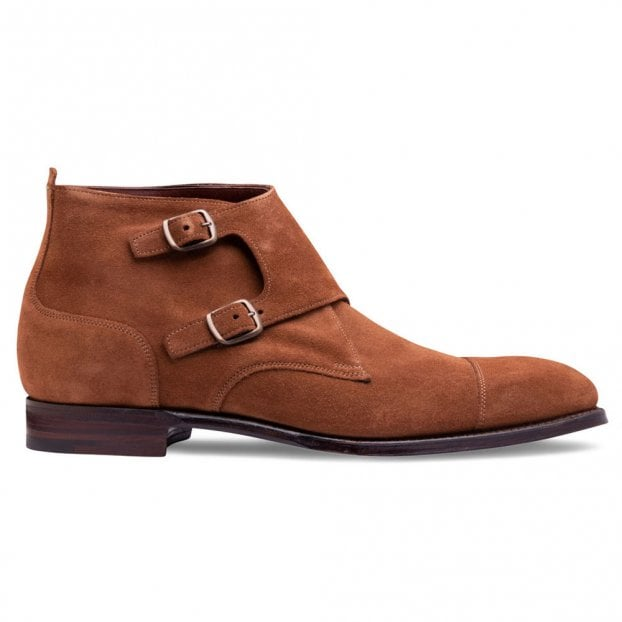 Cheaney Kingston Double Buckle Boot in Fox Suede