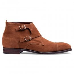 Kingston Double Buckle Boot in Fox Suede