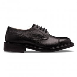 Kisdon II R Derby Shoe in Black Grain Leather
