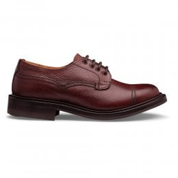 Kisdon II R Derby Shoe in Burgundy Grain Leather