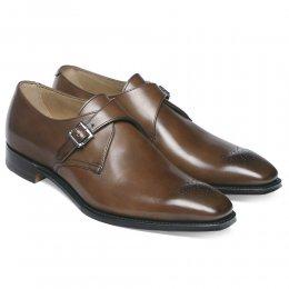 Leeds Buckle Monk Shoe in Espresso Calf Leather