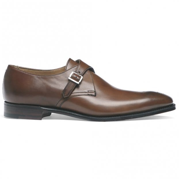 Cheaney Leeds Buckle Monk Shoe in Espresso Calf Leather