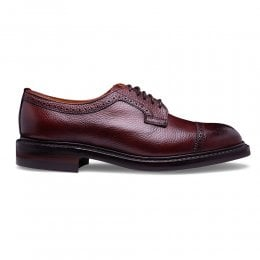 Leiston R Oxford Semi Brogue in Burgundy Grain