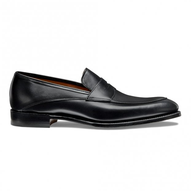 Cheaney Lewisham Penny Loafer in Black Calf Leather