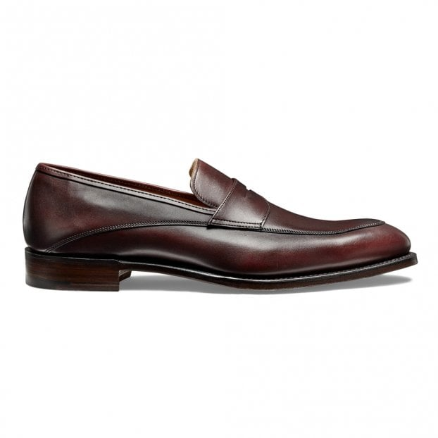 Cheaney Lewisham Penny Loafer in Burgundy Calf Leather