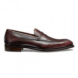 Lewisham Penny Loafer in Burgundy Calf Leather
