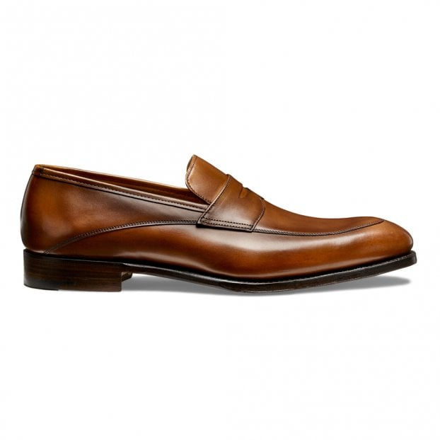 Cheaney Lewisham Penny Loafer in Dark Leaf Calf Leather
