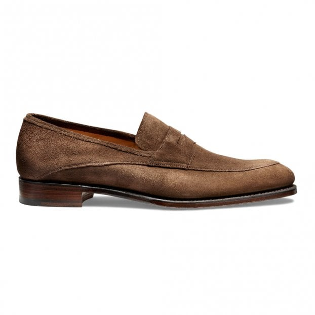 Cheaney Lewisham Penny Loafer in Plough Suede