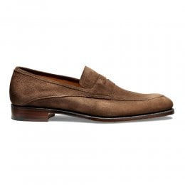 Lewisham Penny Loafer in Plough Suede