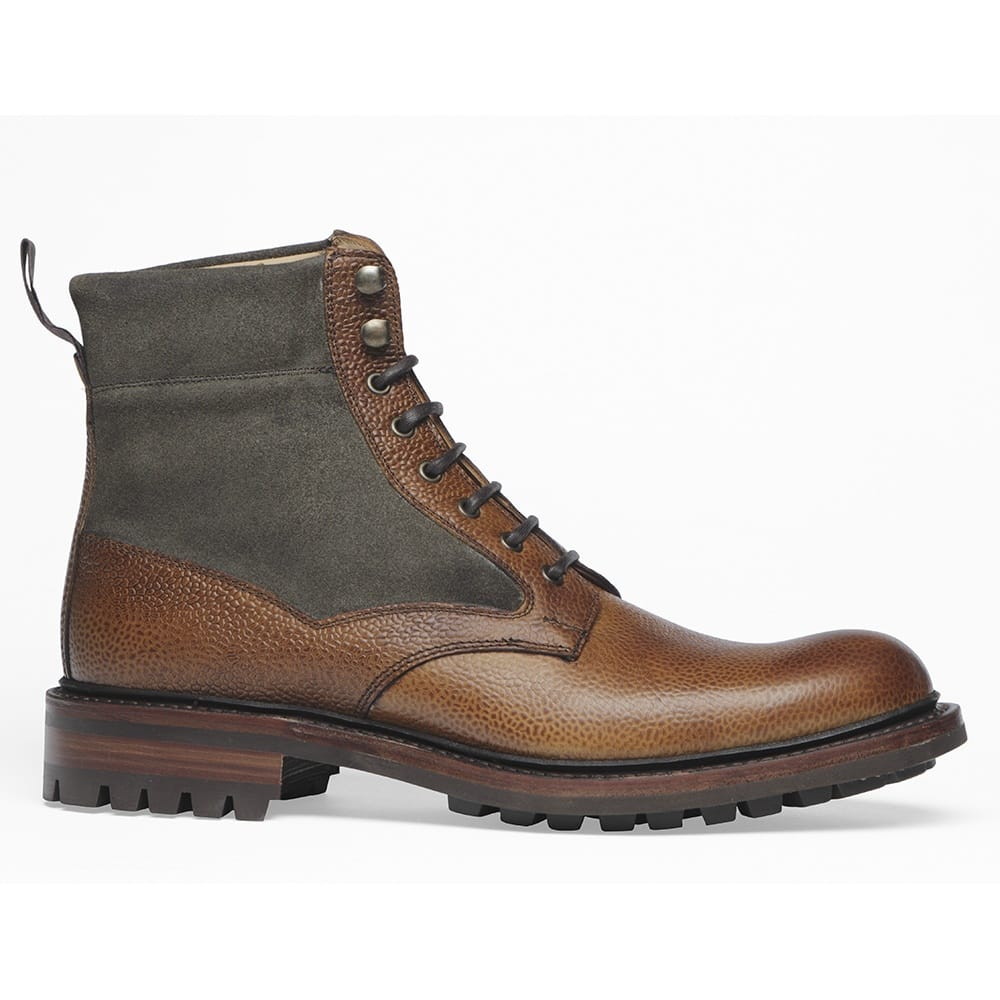 Cheaney Liffey Men S Tan Grain Olive Ankle Boot Made