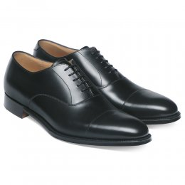 Lime Classic Oxford in Black Calf Leather | Leather Sole