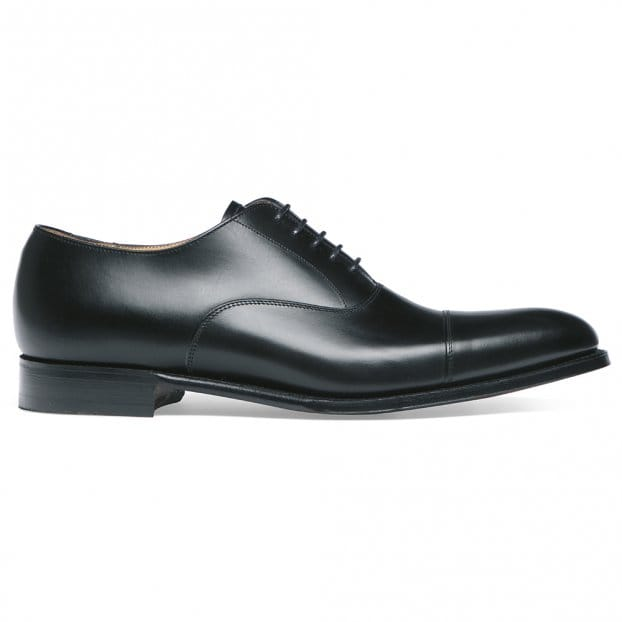 Cheaney Lime Classic Oxford in Black Calf Leather | Leather Sole