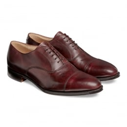 Lime Classic Oxford in Burgundy Calf Leather