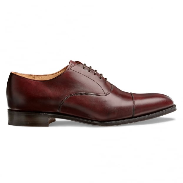 Cheaney Lime Classic Oxford in Burgundy Calf Leather