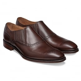 Lincoln Side Gusset Loafer in Mocha Calf Leather