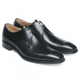Liverpool Derby in Black Calf Leather