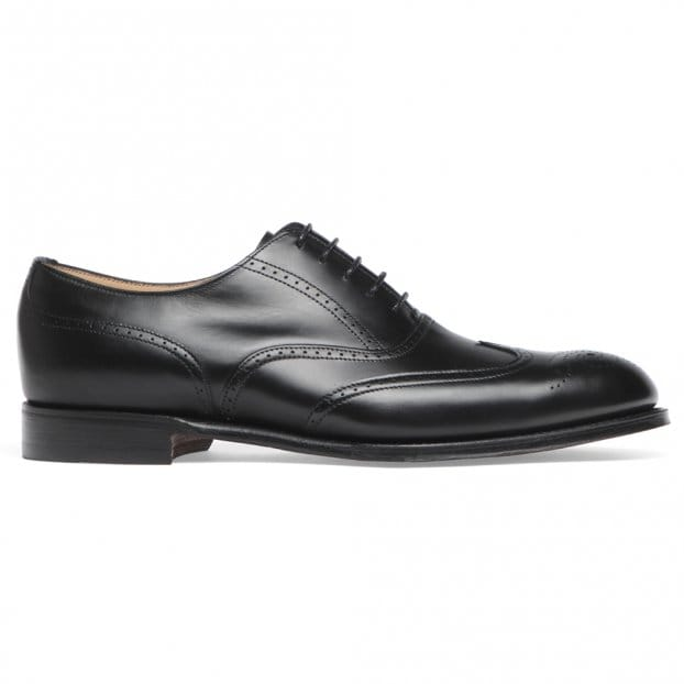 Cheaney Loddington Wingcap Brogue in Black Calf Leather | Leather Sole