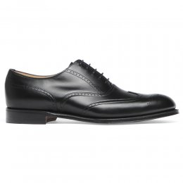 Loddington Wingcap Brogue in Black Calf Leather | Leather Sole