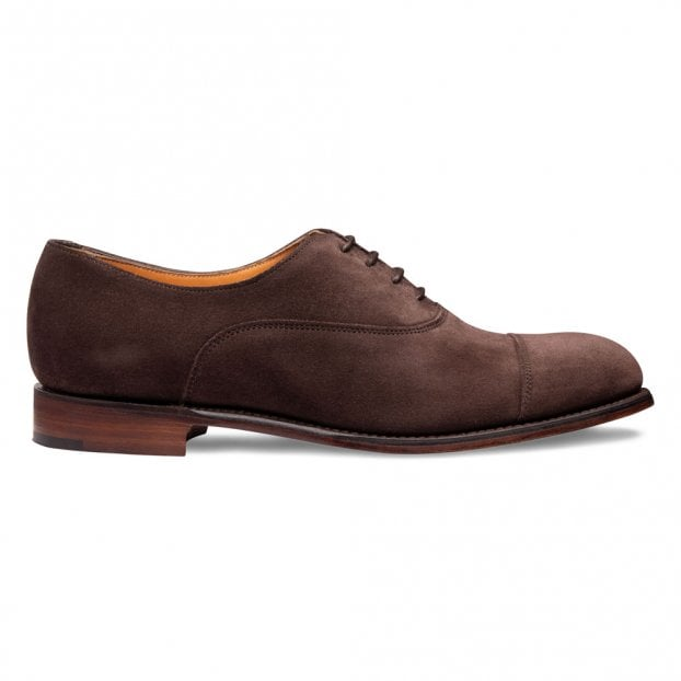 Cheaney Louise Capped Oxford in Brown Suede