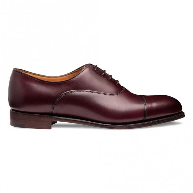Cheaney Louise Capped Oxford in Burgundy Calf Leather