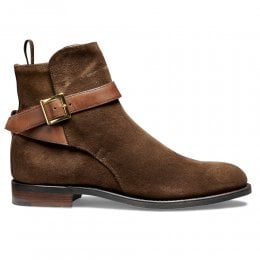 Lucinda D+ Women's Jodhpur Boot in Plough Suede/Conker Strap