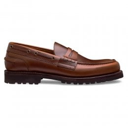 Lymington Loafer in Ginger Pull Up Leather