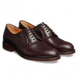 Mabel Ladies Derby in Burgundy Coaching Calf Leather