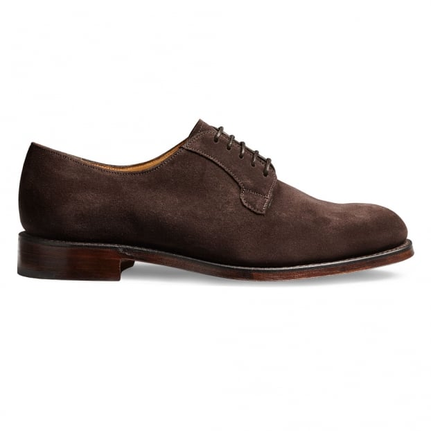 Cheaney Mabel Ladies Derby in Dark Brown Suede Leather